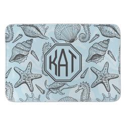Sea-blue Seashells Anti-Fatigue Kitchen Mat (Personalized)