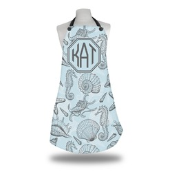 Sea-blue Seashells Apron (Personalized)