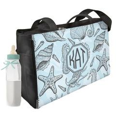 Sea-blue Seashells Diaper Bag (Personalized)