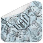 Sea-blue Seashells Baby Hooded Towel (Personalized)