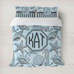 Sea-blue Seashells Duvet Cover (Personalized)