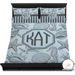 Sea-blue Seashells Duvet Cover Set (Personalized)