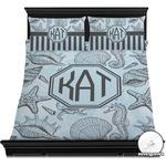 Sea-blue Seashells Duvet Covers (Personalized)