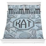 Sea-blue Seashells Comforters (Personalized)