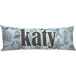 Sea-blue Seashells Body Pillow Case (Personalized)