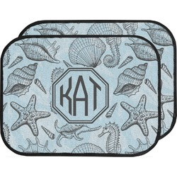 Sea-blue Seashells Car Floor Mats (Back Seat) (Personalized)