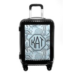Sea-blue Seashells Carry On Hard Shell Suitcase (Personalized)