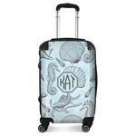Sea-blue Seashells Suitcase (Personalized)