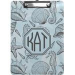 Sea-blue Seashells Clipboard (Personalized)