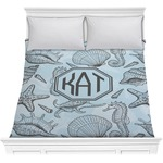 Sea-blue Seashells Comforter (Personalized)