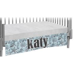 Sea-blue Seashells Crib Skirt (Personalized)