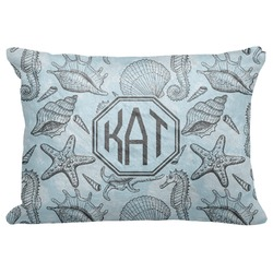 "Sea-blue Seashells Decorative Baby Pillowcase - 16""x12"" (Personalized)"