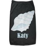Sea-blue Seashells Black Pet Shirt (Personalized)