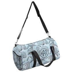 Sea-blue Seashells Duffel Bag - Multiple Sizes (Personalized)