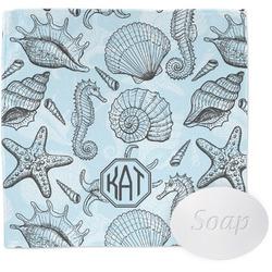 Sea-blue Seashells Washcloth (Personalized)