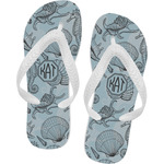 Sea-blue Seashells Flip Flops (Personalized)