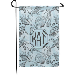 Sea-blue Seashells Garden Flag - Single or Double Sided (Personalized)