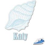 Sea-blue Seashells Graphic Iron On Transfer (Personalized)