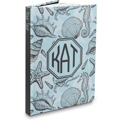 Sea-blue Seashells Hardbound Journal (Personalized)