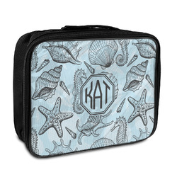 Sea-blue Seashells Insulated Lunch Bag (Personalized)