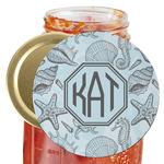 Sea-blue Seashells Jar Opener (Personalized)