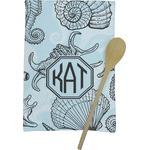 Sea-blue Seashells Kitchen Towel - Full Print (Personalized)