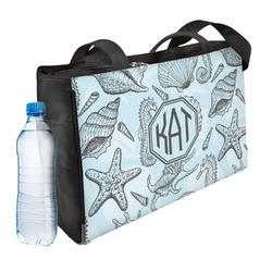 Sea-blue Seashells Ladies Workout Bag (Personalized)