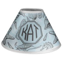 Sea-blue Seashells Coolie Lamp Shade (Personalized)