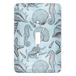 Sea-blue Seashells Light Switch Covers - Multiple Toggle Options Available (Personalized)