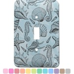 Sea-blue Seashells Light Switch Cover (Single Toggle) (Personalized)