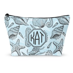Sea-blue Seashells Makeup Bags (Personalized)