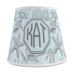 Sea-blue Seashells Empire Lamp Shade (Personalized)
