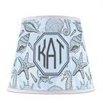 Sea-blue Seashells Empire Lamp Shade (Personalized)