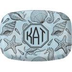 Sea-blue Seashells Melamine Platter (Personalized)