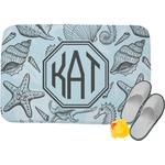 Sea-blue Seashells Memory Foam Bath Mat (Personalized)