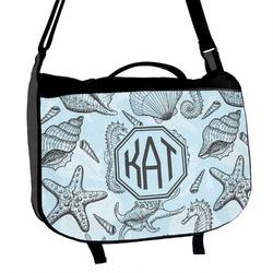 Sea-blue Seashells Messenger Bag (Personalized)