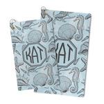 Sea-blue Seashells Microfiber Golf Towel (Personalized)