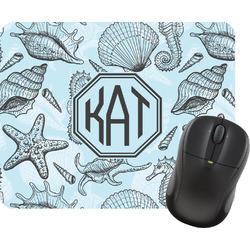 Sea-blue Seashells Mouse Pad (Personalized)