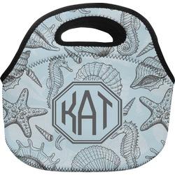 Sea-blue Seashells Lunch Bag (Personalized)