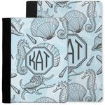 Sea-blue Seashells Notebook Padfolio w/ Monogram