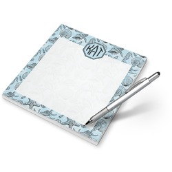 Sea-blue Seashells Notepad (Personalized)