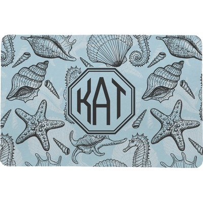 Sea-blue Seashells Comfort Mat (Personalized)