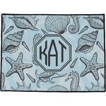 Sea-blue Seashells Door Mat (Personalized)