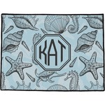 Sea-blue Seashells Door Mat (Personalized)