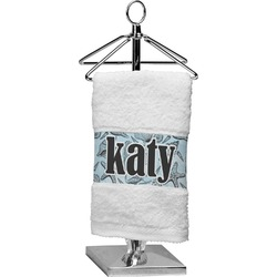 Sea-blue Seashells Finger Tip Towel (Personalized)