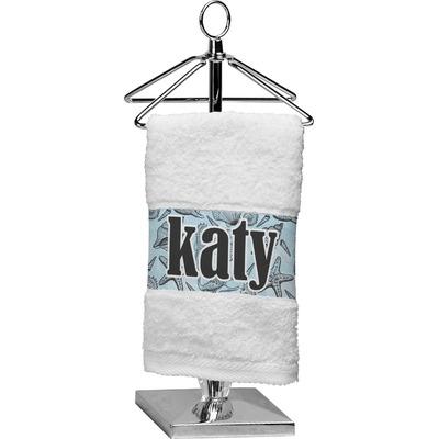 Sea-blue Seashells Cotton Finger Tip Towel (Personalized)