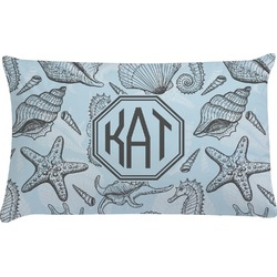 Sea-blue Seashells Pillow Case (Personalized)