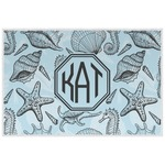 Sea-blue Seashells Placemat (Laminated) (Personalized)