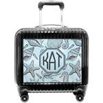 Sea-blue Seashells Pilot / Flight Suitcase (Personalized)