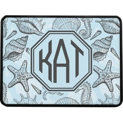 Sea-blue Seashells Rectangular Trailer Hitch Cover (Personalized)